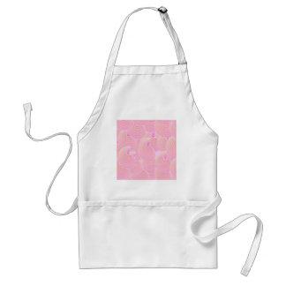 Modelo abstracto rosado delantal