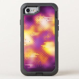 Modelo abstracto rosado y amarillo muy elegante funda OtterBox defender para iPhone 8/7