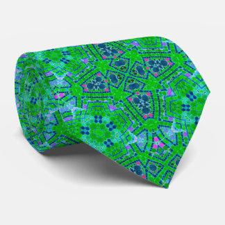 Modelo abstracto verde fluorescente corbata personalizada