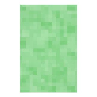 Modelo abstracto verde folleto 14 x 21,6 cm