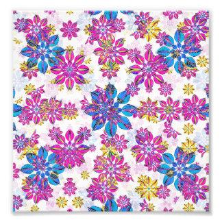 Modelo adornado floral estilizado foto
