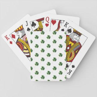 Modelo afortunado de los tréboles baraja de cartas