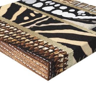 Modelo africano abstracto impresión en lienzo