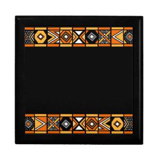 Modelo africano del arte cajas de recuerdo