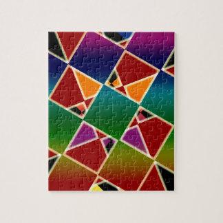 Modelo ajustado colorido tejado puzzle