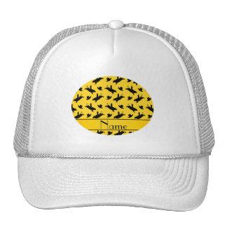 Modelo amarillo conocido personalizado del montar gorras de camionero