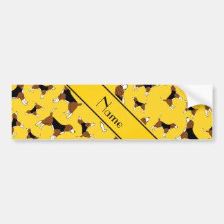 Modelo amarillo conocido personalizado del perro pegatina para coche