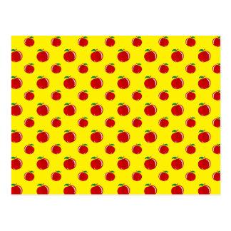 Modelo amarillo de la manzana postal