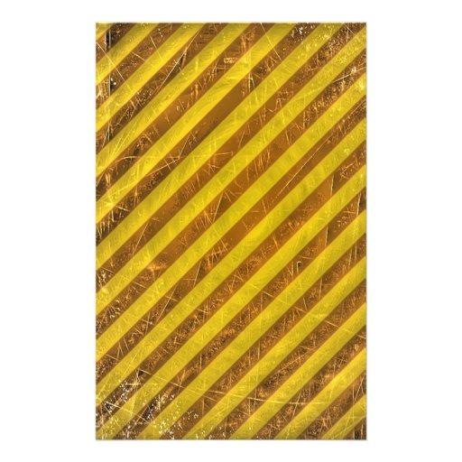 Modelo amarillo de las rayas de Brown del vintage Tarjetas Publicitarias