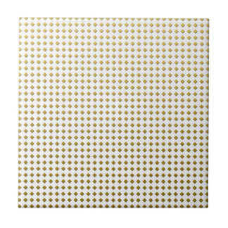 Modelo amarillo de oro de los cuadrados minúsculos azulejo
