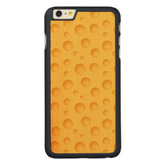 Modelo amarillo del queso funda para iPhone 6 de carved® de arce