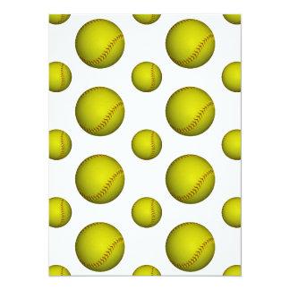 Modelo amarillo del softball/del béisbol invitación 13,9 x 19,0 cm