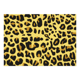 Modelo amarillo negro femenino del estampado de an invitaciones personalizada
