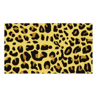 Modelo amarillo negro femenino del estampado de an plantillas de tarjeta de negocio