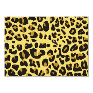 Modelo amarillo negro femenino del estampado de invitaciones personalizada
