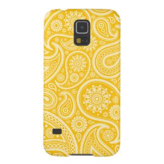 Modelo amarillo retro de Paisley Funda Galaxy S5