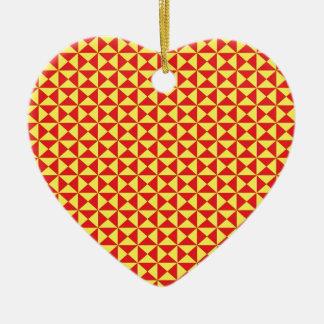 Modelo amarillo rojo del triángulo ornamento para reyes magos