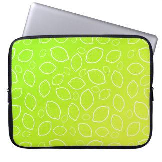 modelo amarillo verde fresco del limón del verano funda para portátil