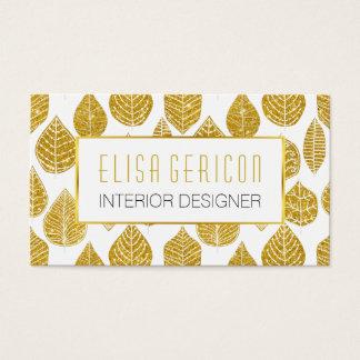 Modelo amplio de las hojas del brillo moderno, de tarjeta de visita