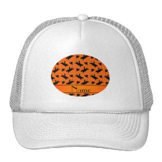 Modelo anaranjado conocido personalizado del gorros bordados