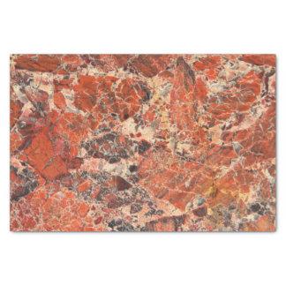 Modelo anaranjado de la piedra del jaspe papel de seda