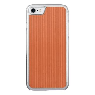 Modelo anaranjado de las rayas verticales del moho funda para iPhone 7