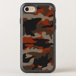 Modelo anaranjado del camuflaje de Camo del color Funda OtterBox Symmetry Para iPhone 8/7