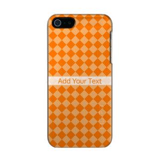 Modelo anaranjado del diamante de la combinación carcasa de iphone 5 incipio feather shine