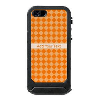Modelo anaranjado del diamante de la combinación funda para iPhone 5 incipio ATLAS ID