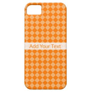 Modelo anaranjado del diamante de la combinación funda para iPhone SE/5/5s