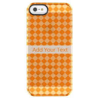 Modelo anaranjado del diamante de la combinación funda transparente para iPhone SE/5/5s