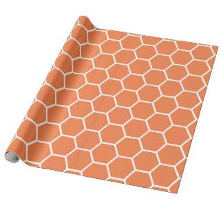 Modelo anaranjado del peine de la miel de la papel de regalo
