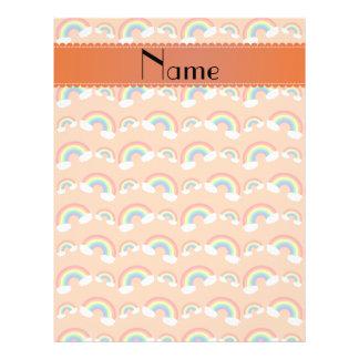 Modelo anaranjado en colores pastel conocido perso tarjeta publicitaria