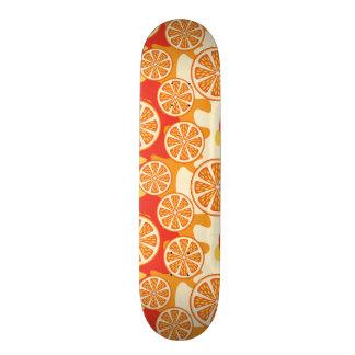 Modelo anaranjado retro de la fruta cítrica monopatín 21,6 cm