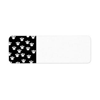 Modelo animal blanco y negro de la impresión de la etiquetas de remite