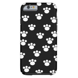 Modelo animal blanco y negro de la pata funda para iPhone 6 tough