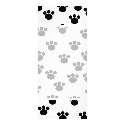 Modelo animal de la impresión de la pata. Blanco y Anuncio Personalizado