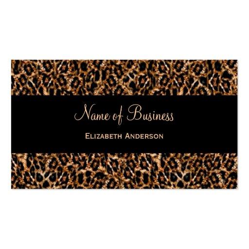 Modelo animal de lujo del estampado leopardo elega tarjeta de visita