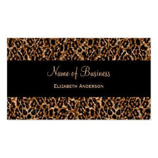 Modelo animal de lujo del estampado leopardo tarjetas de visita