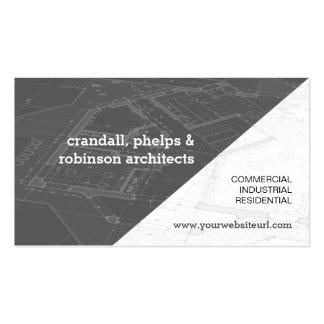 Modelo arquitectónico gris tarjetas de visita