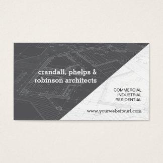 Modelo arquitectónico gris tarjeta de visita