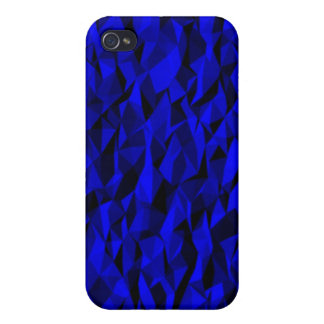 modelo arrugado azul iPhone 4 carcasa