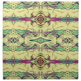 Modelo artístico coloreado multi vibrante servilleta de tela