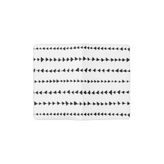 Modelo azteca blanco negro de las flechas cuaderno de bolsillo moleskine