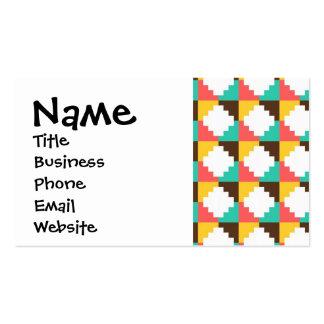 Modelo azteca en colores pastel colorido del nativ tarjeta de negocio