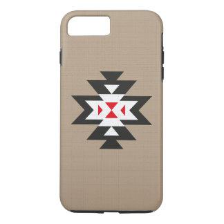 Modelo azteca rojo blanco negro marrón claro de funda iPhone 7 plus