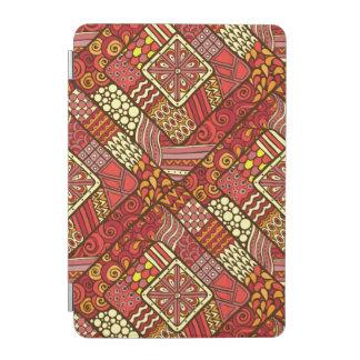 Modelo azteca tribal abstracto rojo cubierta de iPad mini