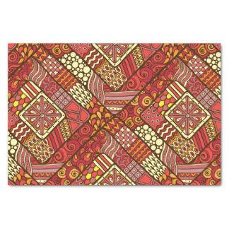 Modelo azteca tribal abstracto rojo papel de seda