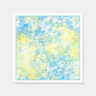 Modelo azul amarillo del chapoteo de la pintura servilleta desechable
