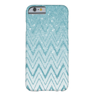 Modelo azul claro del galón en brillo funda barely there iPhone 6